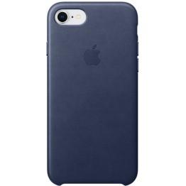 Клип-кейс Apple Leather Case для iPhone 7/8 (темно-синий)