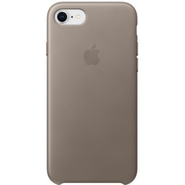 Клип-кейс Apple Leather Case для iPhone 7/8 (платиново-серый)