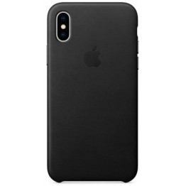 Клип-кейс Apple Leather Case для iPhone X (черный)
