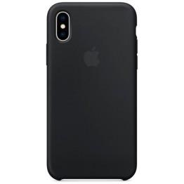 Клип-кейс Apple Silicone Case для iPhone X (черный)