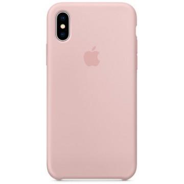 Клип-кейс Apple Silicone Case для iPhone X (розовый песок)