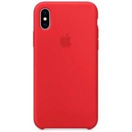 Клип-кейс Apple Silicone Case для iPhone X (красный)